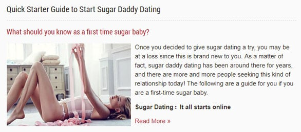 Screenshot of TopSugarDaddyApps.com's Quick Starter Guide