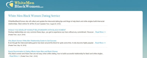 Screenshot of the WhiteMenBlackWomen.net blog