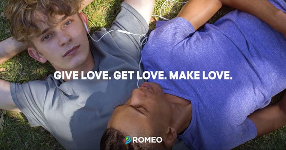 Photo of the ROMEO banner ad with a logo