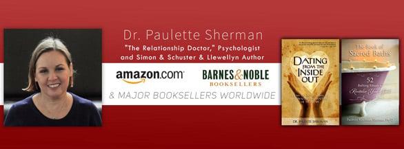 Screenshot of Dr. Paulette Sherman books banner