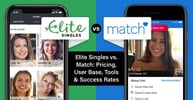 Elite Singles vs. Match: Pricing, User Base, Tools & Success Rates