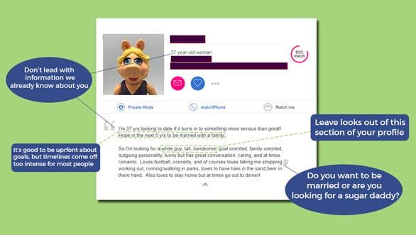 Screenshot of ProfileHelper profile analysis