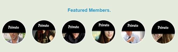 Screenshot of Featured Members from STD-Meet.com