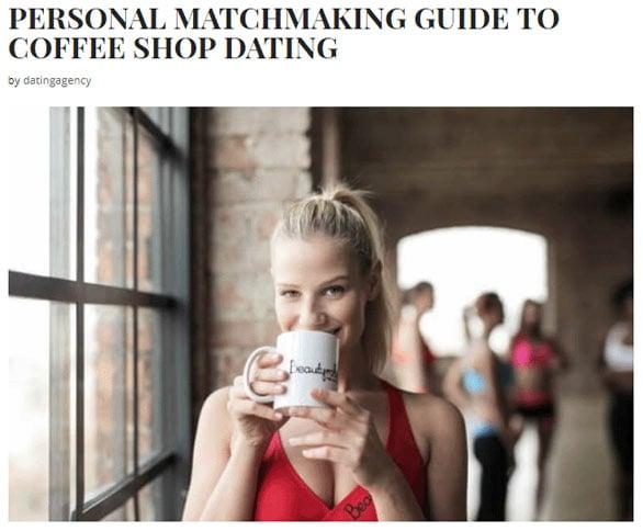Screenshot of Dating Agency Reviews blog post