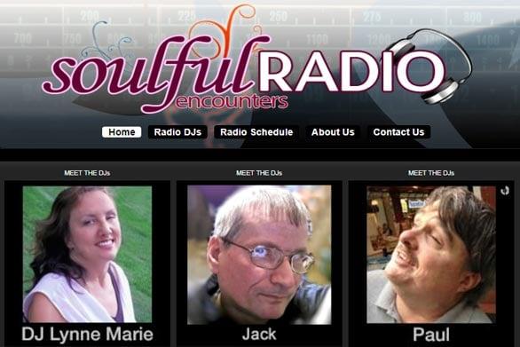 Screenshot of Soulful Encounters Radio station