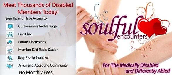 Screenshot of Soulful Encounters homepage