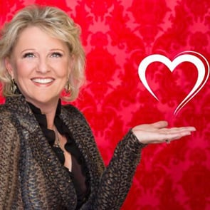 Photo of Julie Ferman with a heart