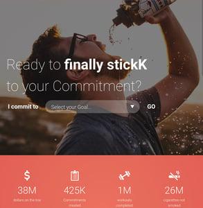 Screenshot of stickK