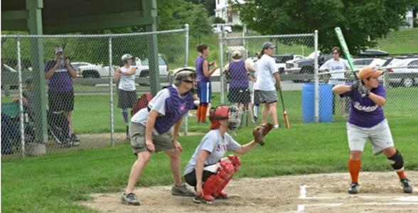 Photo of a women's softball team in Massachusetts
