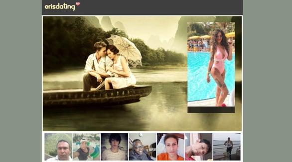 Screenshot of ErisDating.com homepage