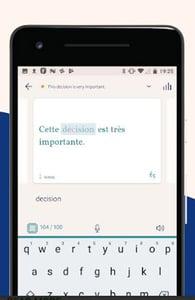Screenshot of Lingvist's app