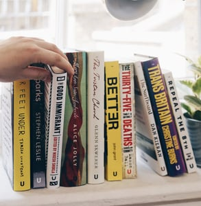 Photo of books published on Unbound