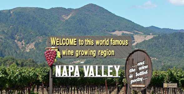 Photo of Napa Valley's welcome sign