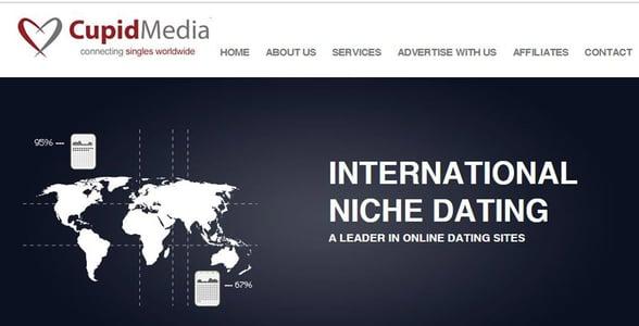 Screenshot from Cupid Media's website