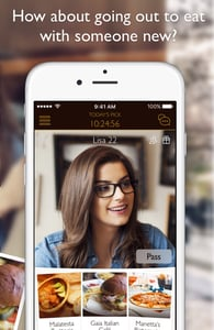 Screenshot of the Dine dating app