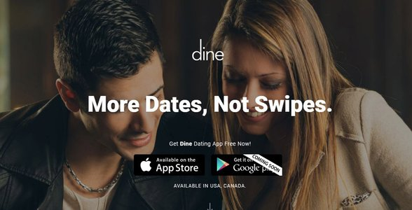 Screenshot of Dine's website