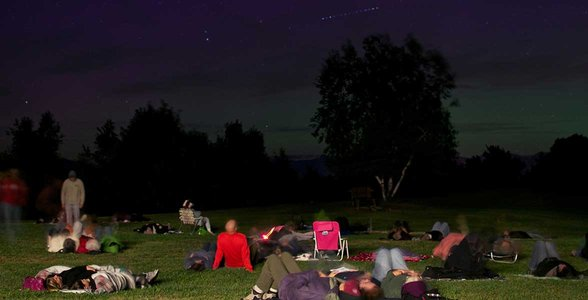 Photo of a stargazing event at Mohonk Preserve