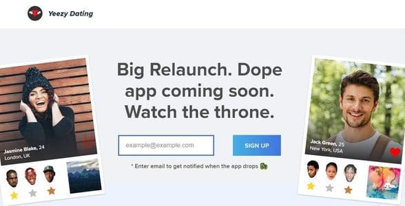 Screenshot of Yeezy.Dating