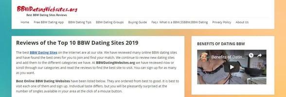 Screenshot of BBWDatingWebsites.org