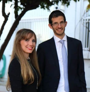Photo of Forj Co-Founders Yossi and Shira Teichman