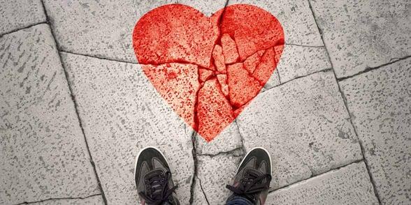 Photo of a broken heart