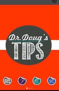 Screenshot of the Doug's Tips app