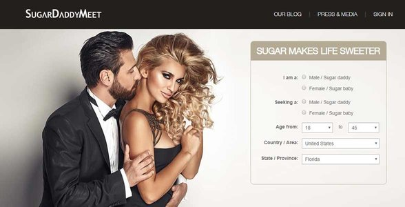 Screenshot of SugarDaddyMeet.com