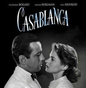 "A ""Casablanca"" movie poster"