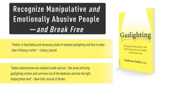 Screenshot of the Gaslighting book and reviews