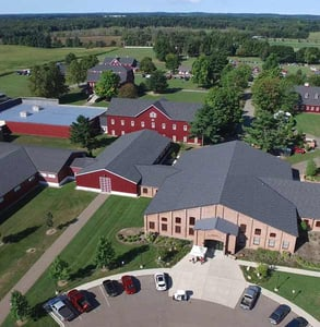 Aerial photo of the Gilmore Car Museum