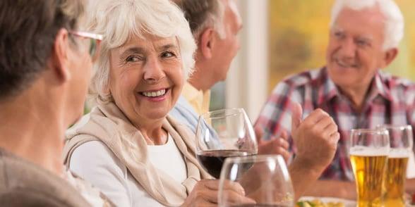 Photo of older women drinking wine