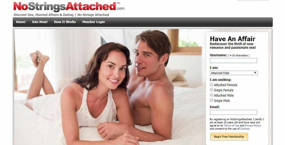 Screenshot of NoStringsAttached.com