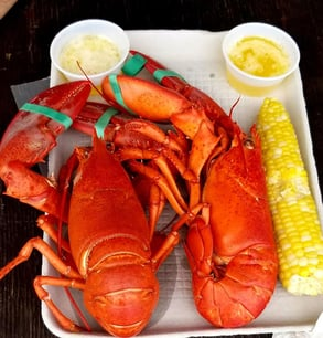Photo of a lobster meal