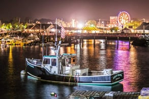 Photo of Maine Lobster Festival at night