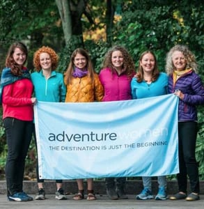 Photo of the AdventureWomen team