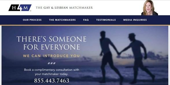 Screenshot of the H4M website