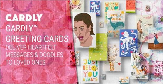 Cardly™ Greeting Cards Deliver Heartfelt Messages & Doodles to Loved Ones