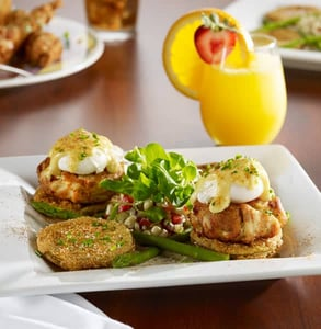 Photo of the Crab Cake and Fried Green Tomato Eggs Benedict