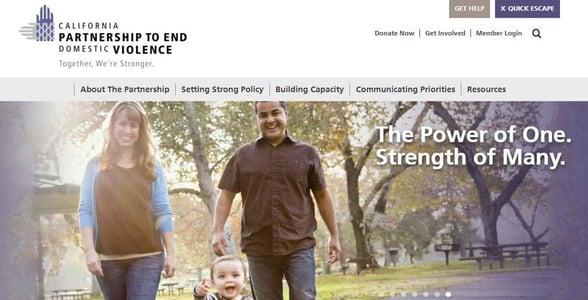 Screenshot of The Partnership's website