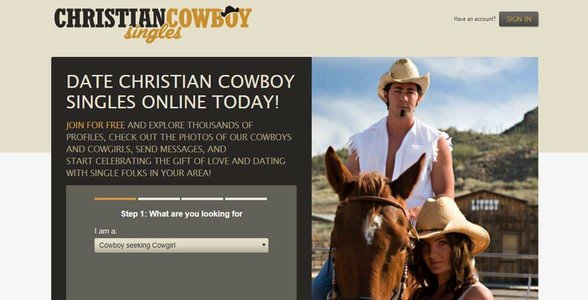 Screenshot of ChristianCowboySingles