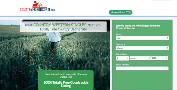 Screenshot of CountryFriendsDate.com