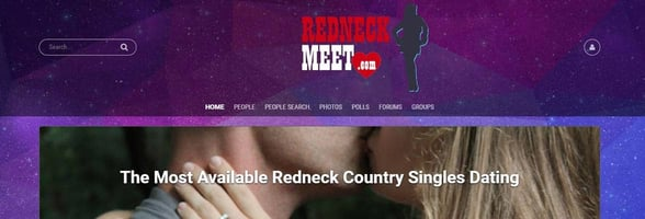 Screenshot of RedneckMeet.com