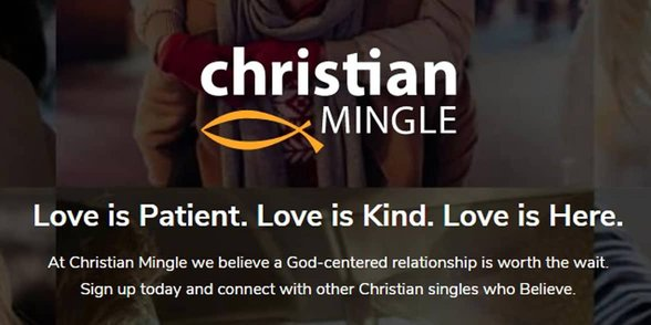 Screenshot of the ChristianMingle homepage