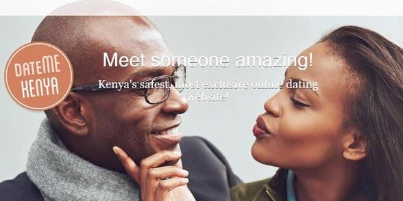 Screenshot of DateMeKenya's homepage