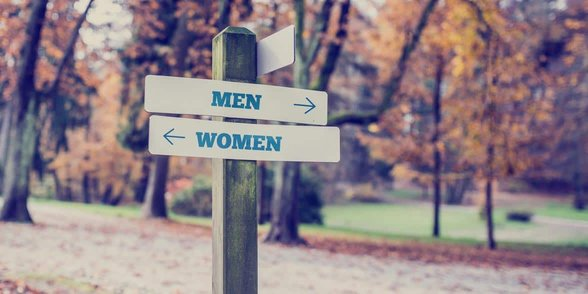 Photo of a men/women sign