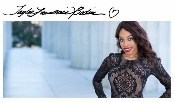 Photo of Taylor Francois-Bodine and her signature