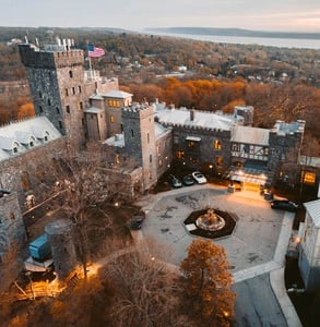 Aerial photo of Castle Hotel & Spa