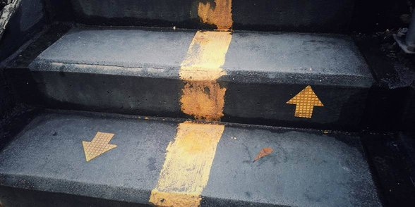 Photo of up and down arrows