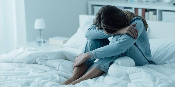 Photo of a depressed woman