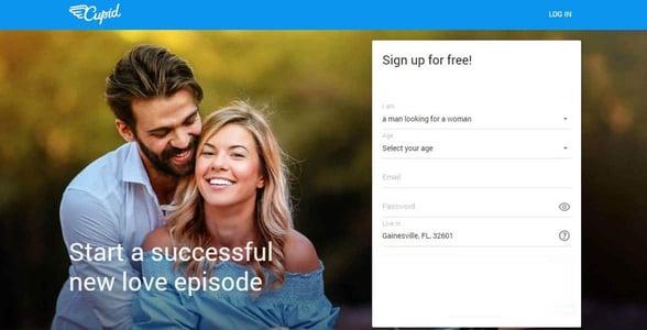 Screenshot of Cupid.com